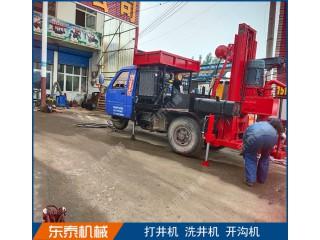 东泰机械供应拖拉机带4寸正反循环打井机设备